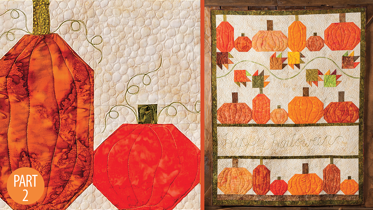 Quilter's Skill Builders: Happy Halloween Wall Quilt: Part 2