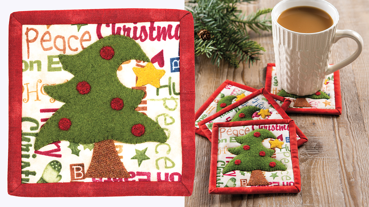 Learn, Make, Create!: O' Christmas Tree Coaster Set