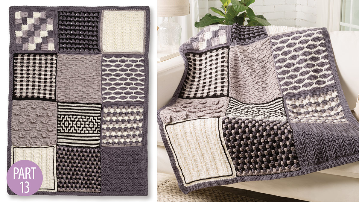 Crochet Skill Builders: Chic Throw by Marly Bird: Edging