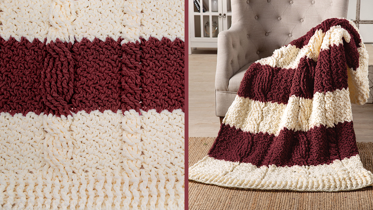 Learn, Make, Create!: Banded Cable Throw