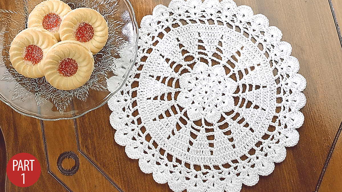 Crochet Skill Builders: Christmas Trees Doilies: Part 1