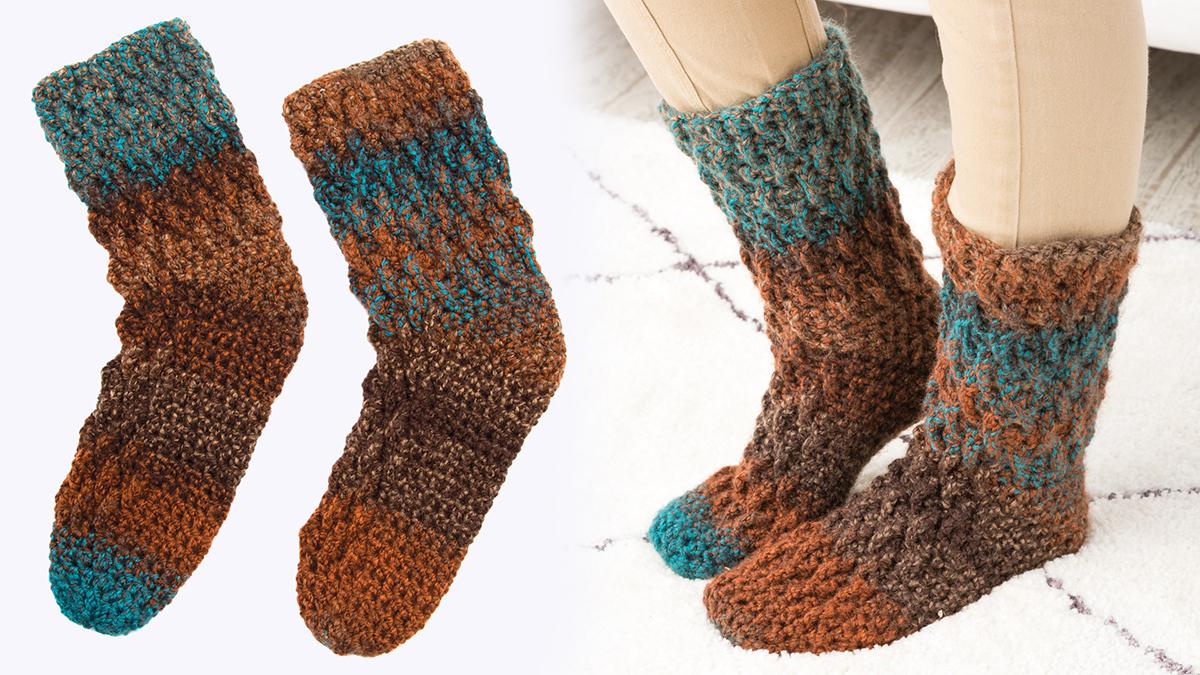 Learn, Make, Create!: Chunky Slipper Socks