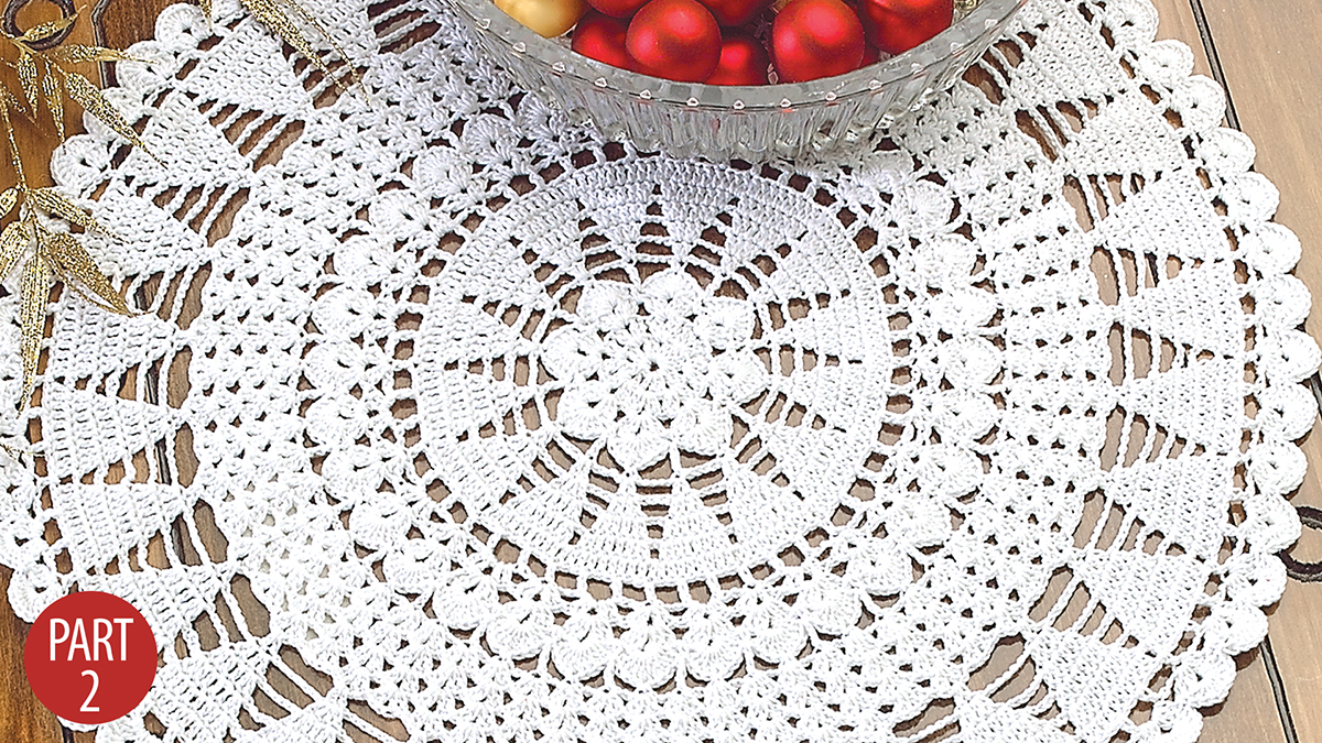 Crochet Skill Builders: Christmas Trees Doilies: Part 2