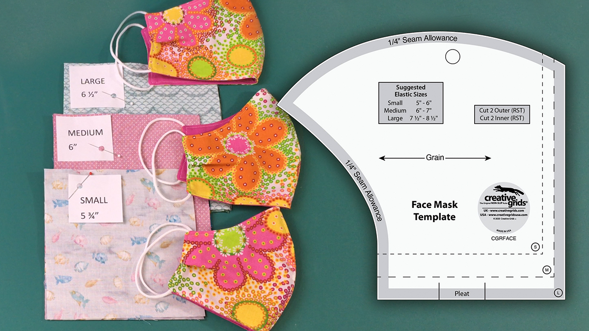 Products We Love: Creative Grids Face Mask Template