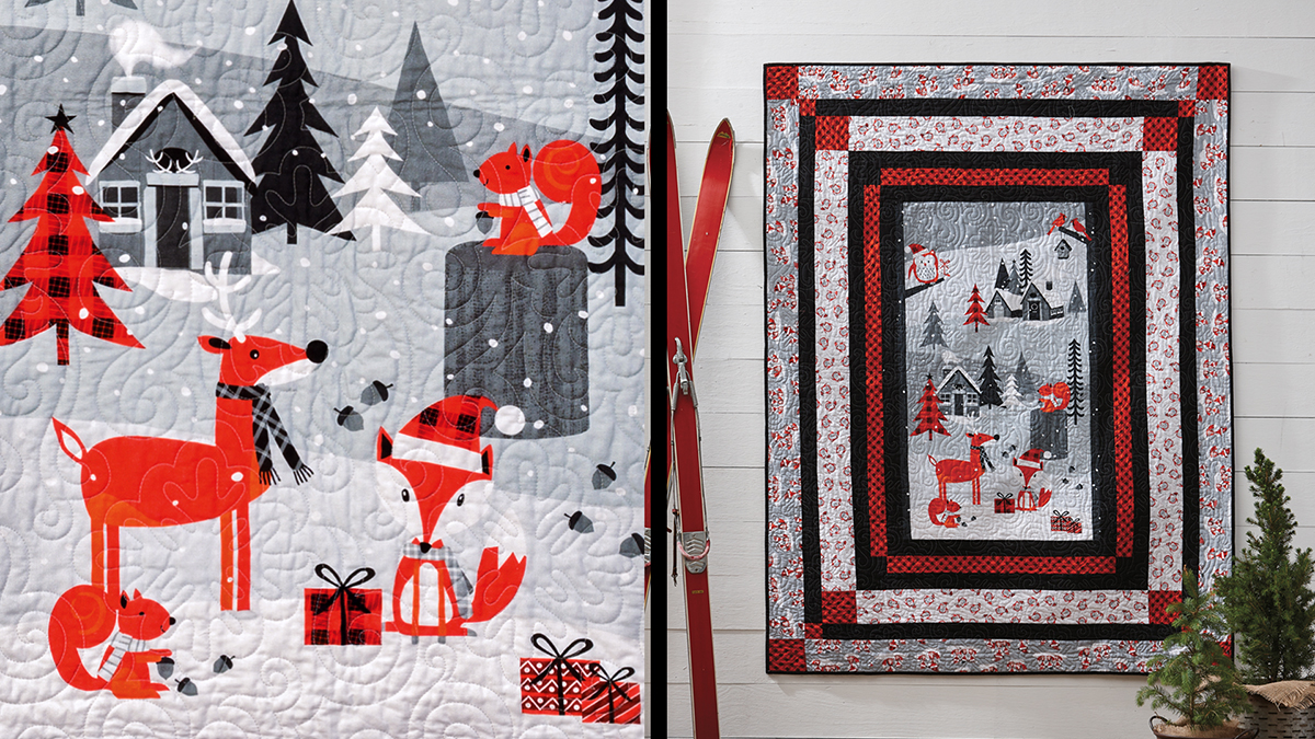 Learn, Make, Create!: Woodland Holiday Panel Quilt