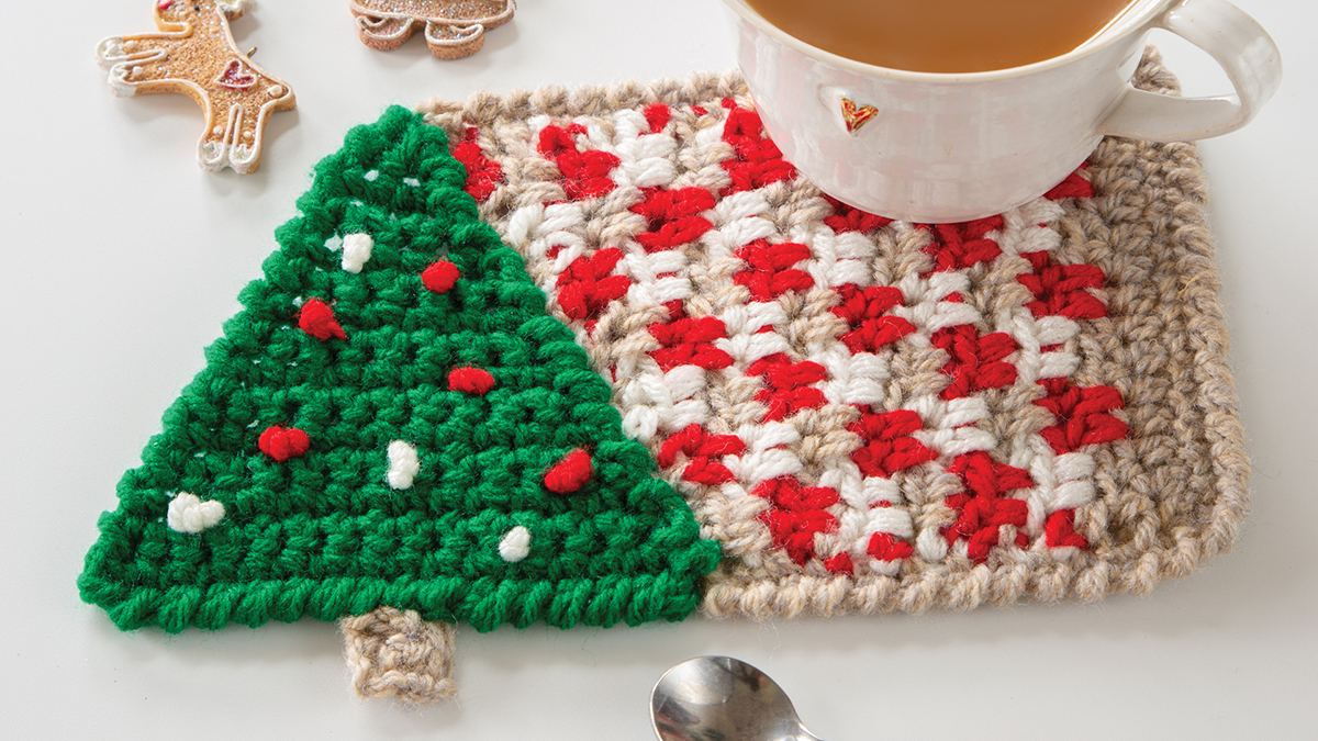 Learn, Make, Create!: Under the Tree Crochet Mug Rug