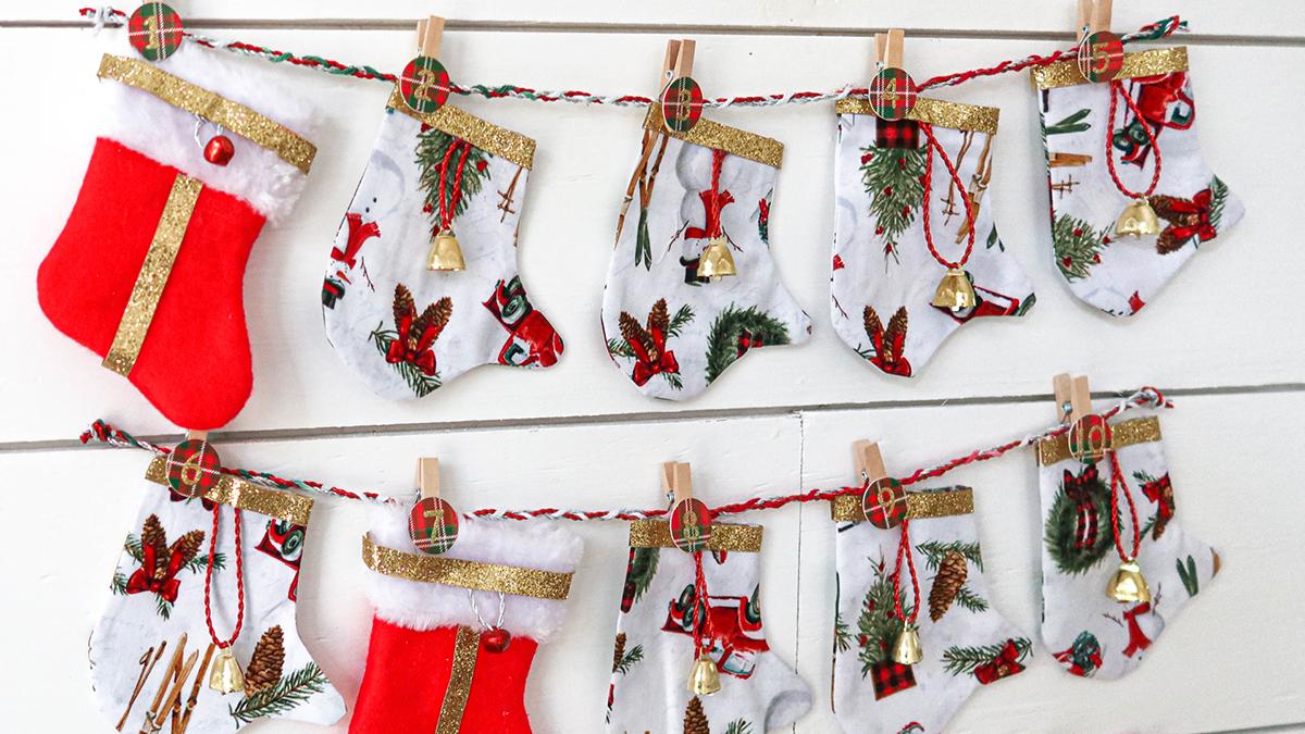 Creative Living: Merry Mitten & Stocking Advent Calendar