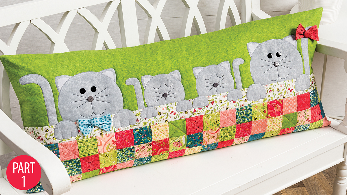 Learn, Make, Create!: Purrfectly Comfy Bench Pillow: Part 1