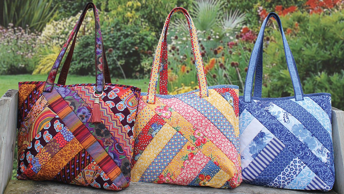 Products We Love: Quilt-As-You-Go Alexandra Tote Pattern with Pre-Printed Batting