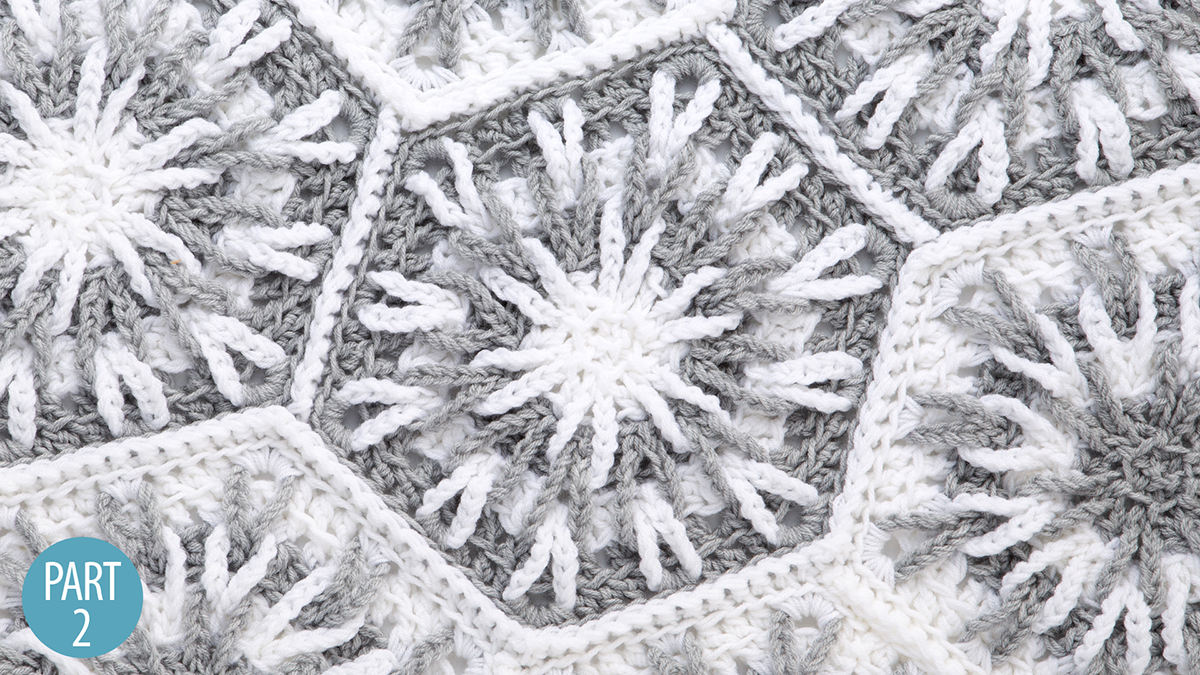 Crochet Skill Builders: Snowy Evening Afghan: Part 2