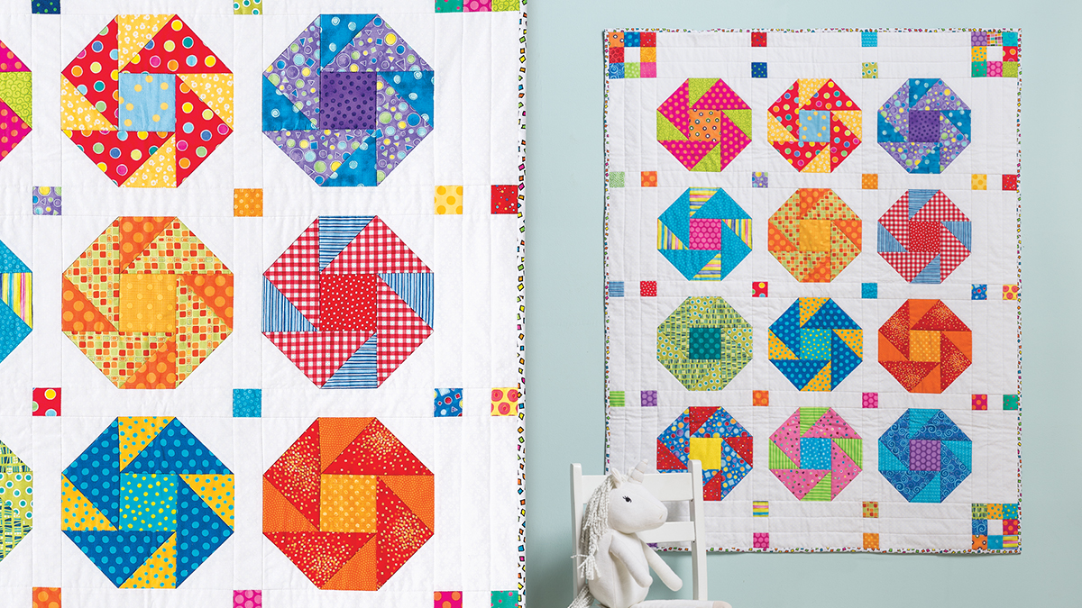 Learn, Make, Create!: Color Pop Baby Quilt