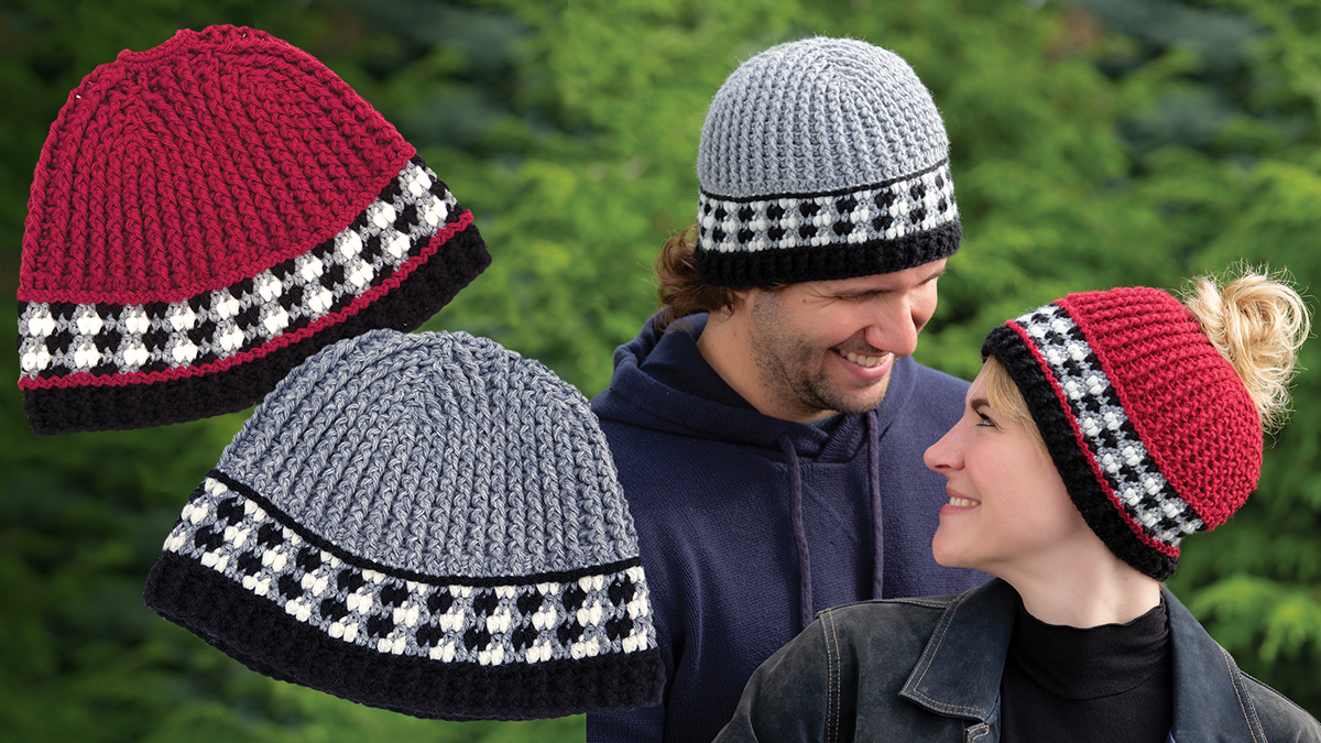 Learn, Make, Create!: His & Hers Buffalo Plaid Check Hats