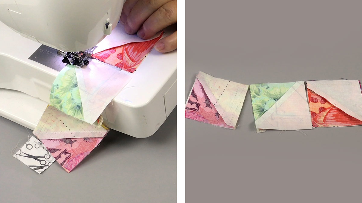 Quilt & Sew Tips: Why & How to Chain Piece