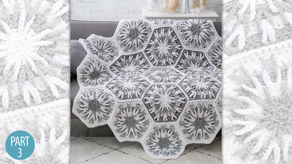 Crochet Skill Builders: Snowy Evening Afghan: Part 3