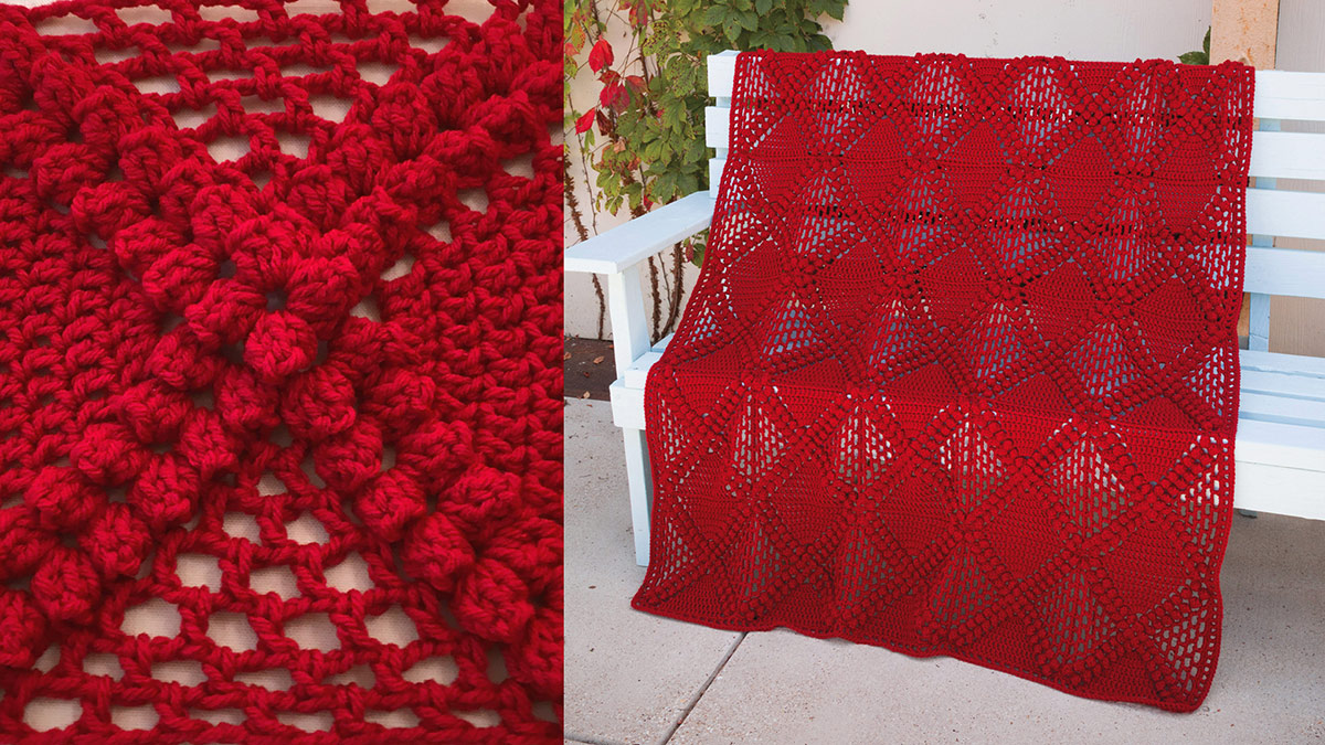 Learn, Make, Create!: Crisscross Diamondback Crochet Blanket