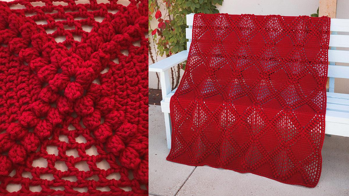 Learn, Make, Create!: Crisscross Diamondback Crochet Blanket