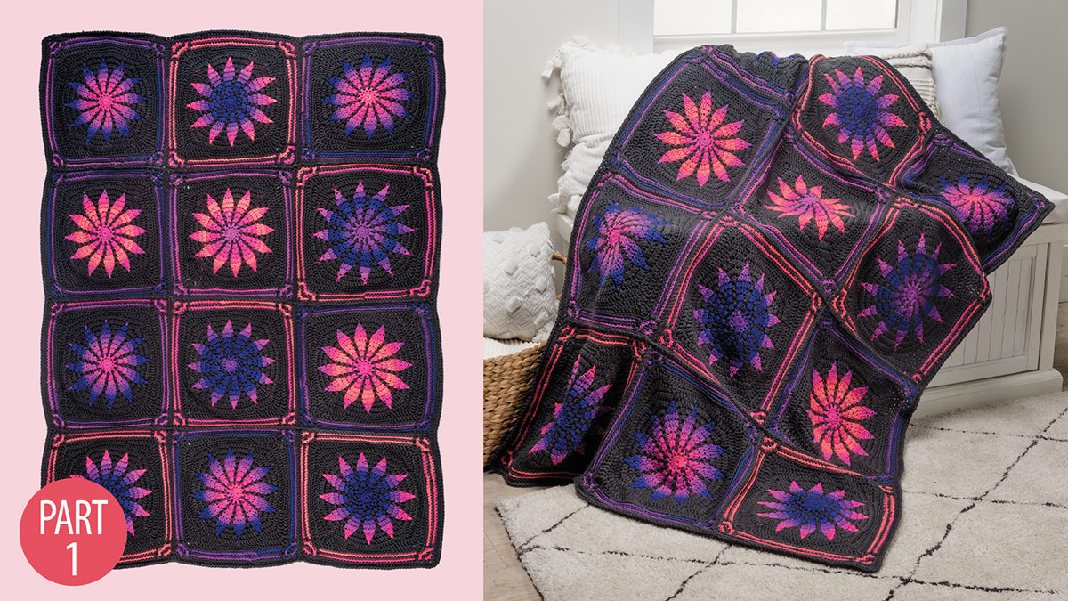 Gothic Rose Afghan: Part 1 video
