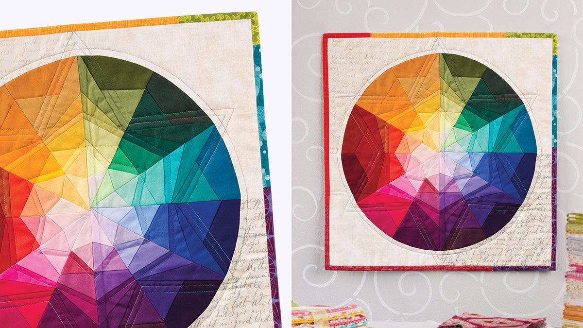 Learn, Make, Create!: Prism Star Color Wheel Wall Hanging