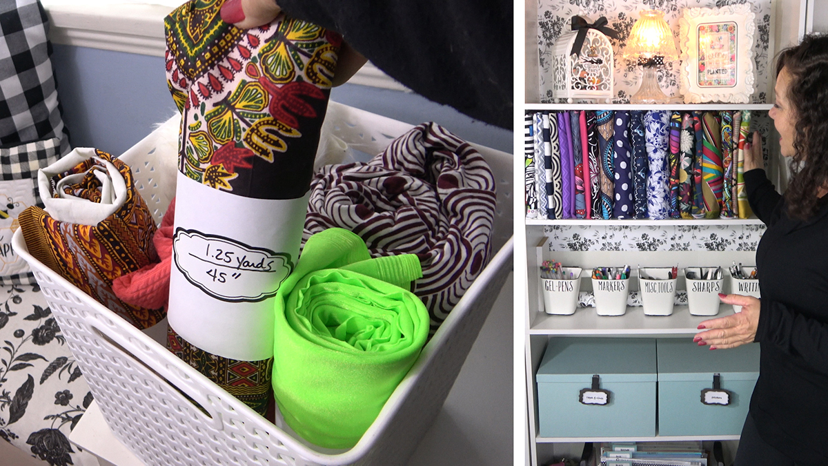 Uncluttered Crafter: Fabulous Ways to Store Fabric
