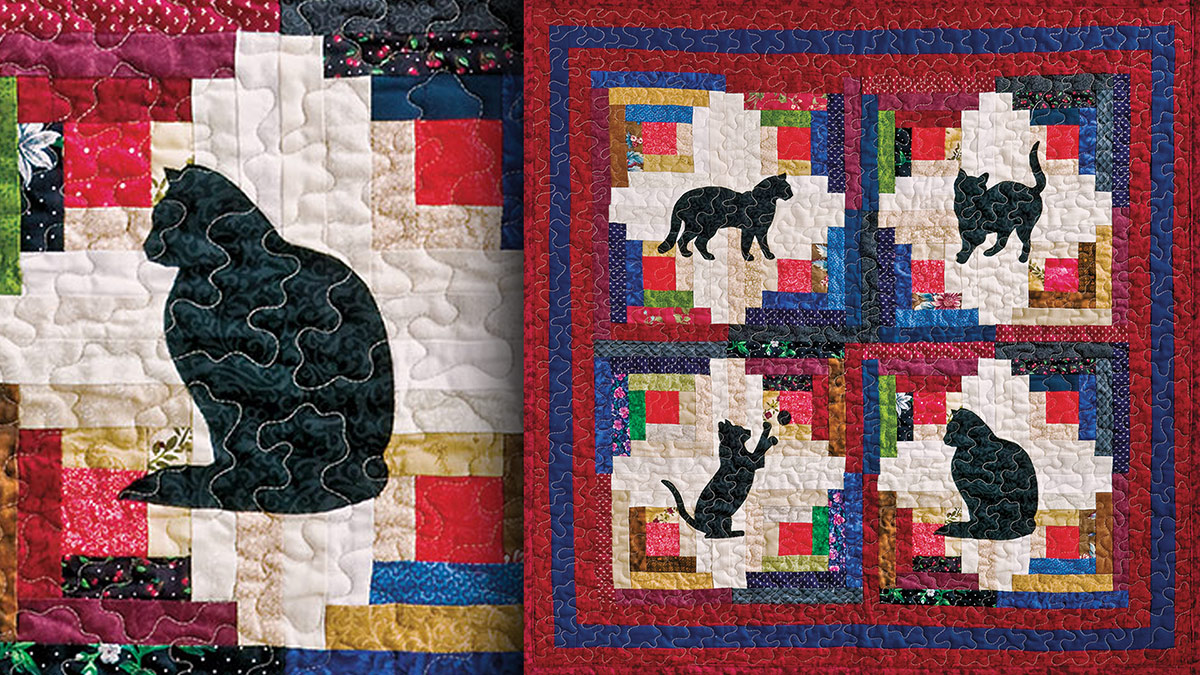 Learn, Make, Create!: Cabin Cats Wall Quilt
