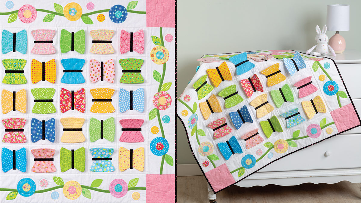 Learn, Make, Create!: Butterfly Kisses Baby Quilt