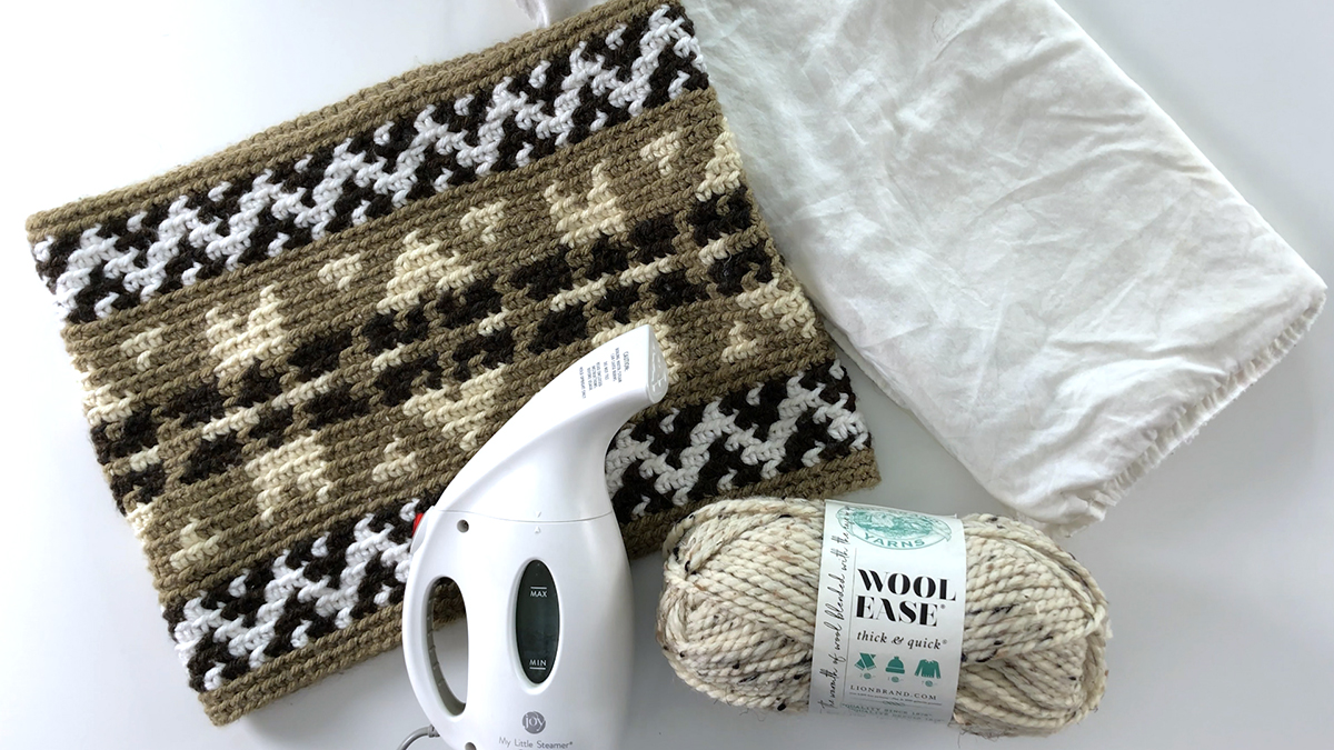 Quick Stitches & Tips: Washing & Drying Acrylic-Wool Blend Fiber Projects