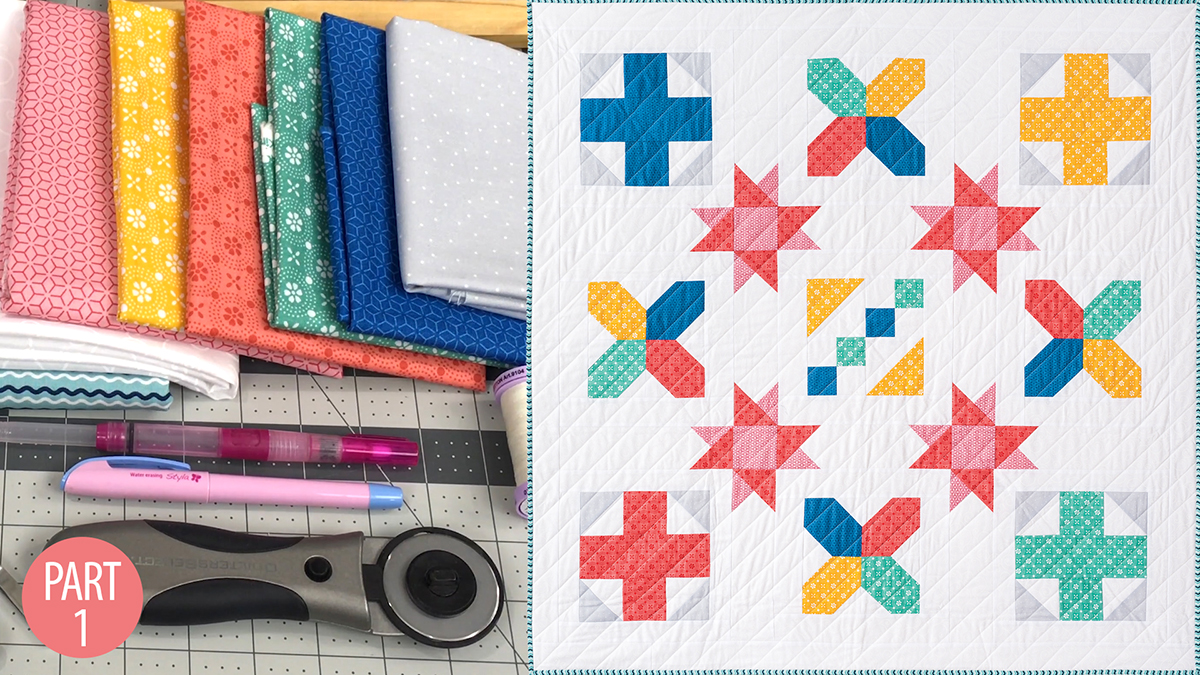 Nancy's Beginner Quilt: Part 1 video