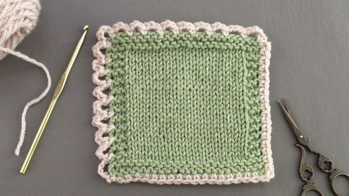 Quick Stitches & Tips: How to Crochet a Simple Edge on Knit Items