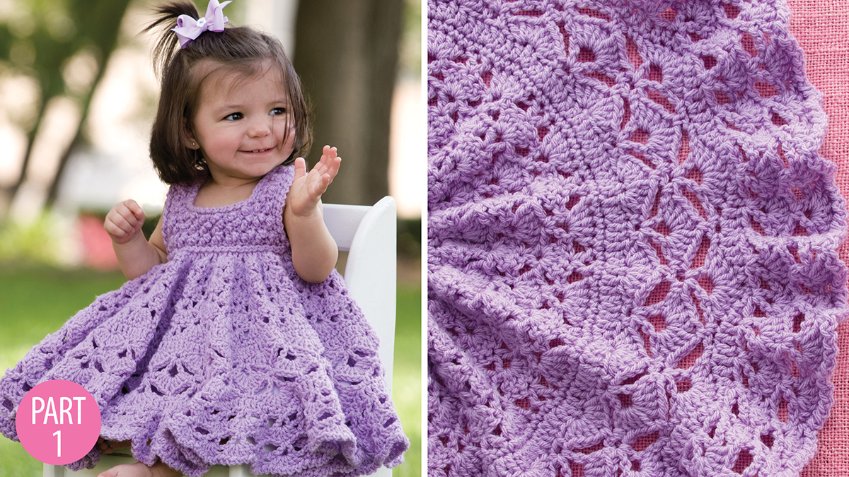 Crochet Skill Builders: Frilly Dress: Part 1