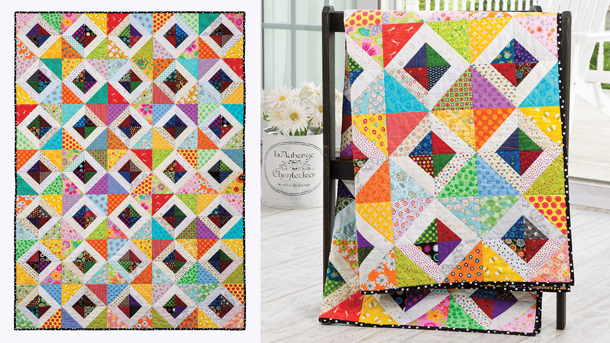 Learn, Make, Create!: Diamonds in the Garden Quilt