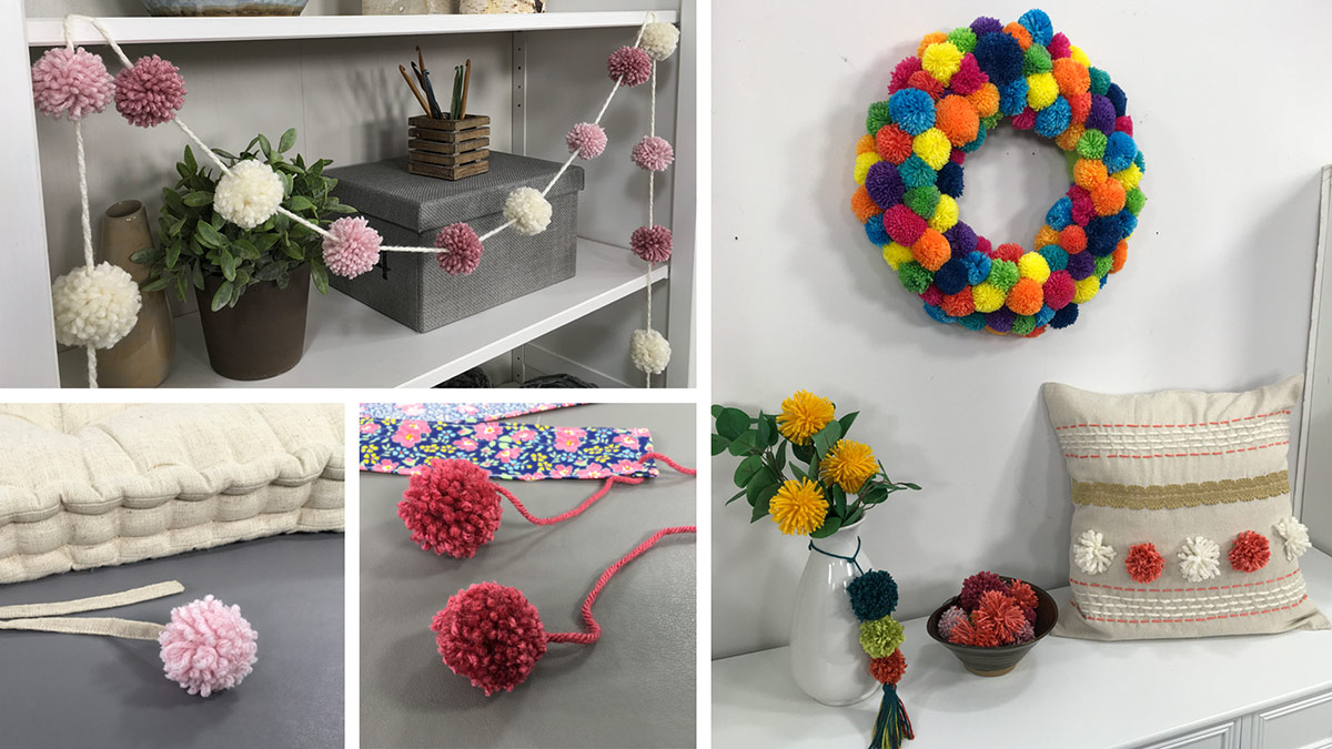 Creative Living: Creative Decorating With Pom-Poms
