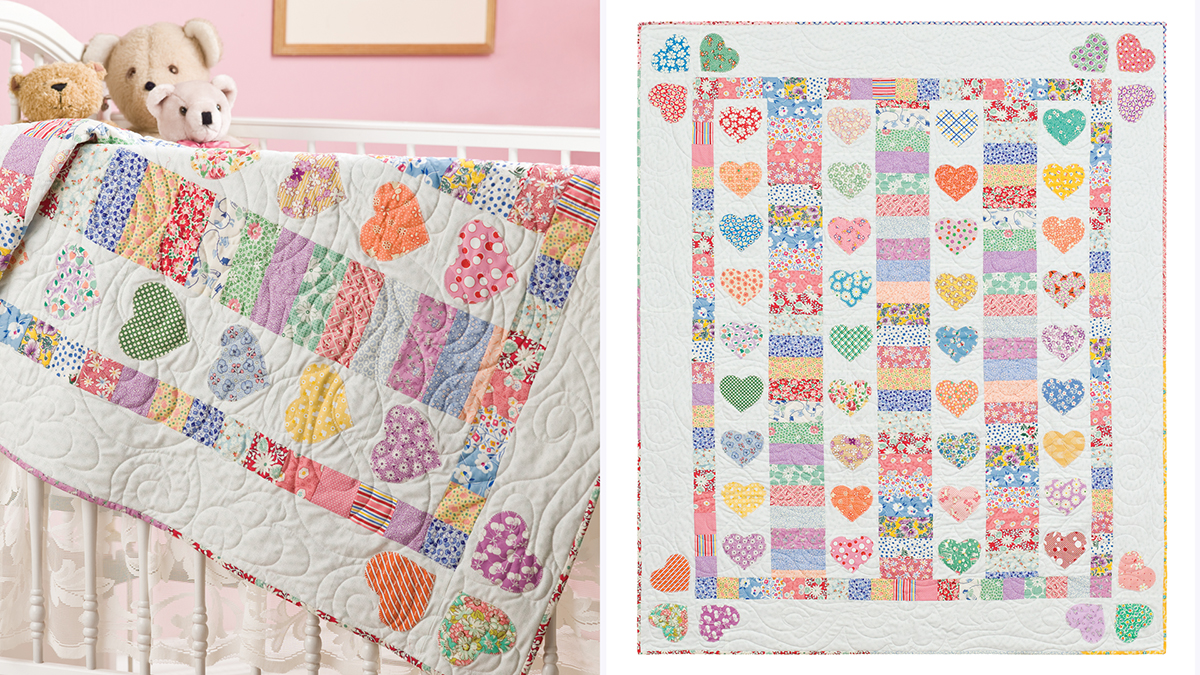 Learn, Make, Create!: Hearts A-Flutter Baby Quilt