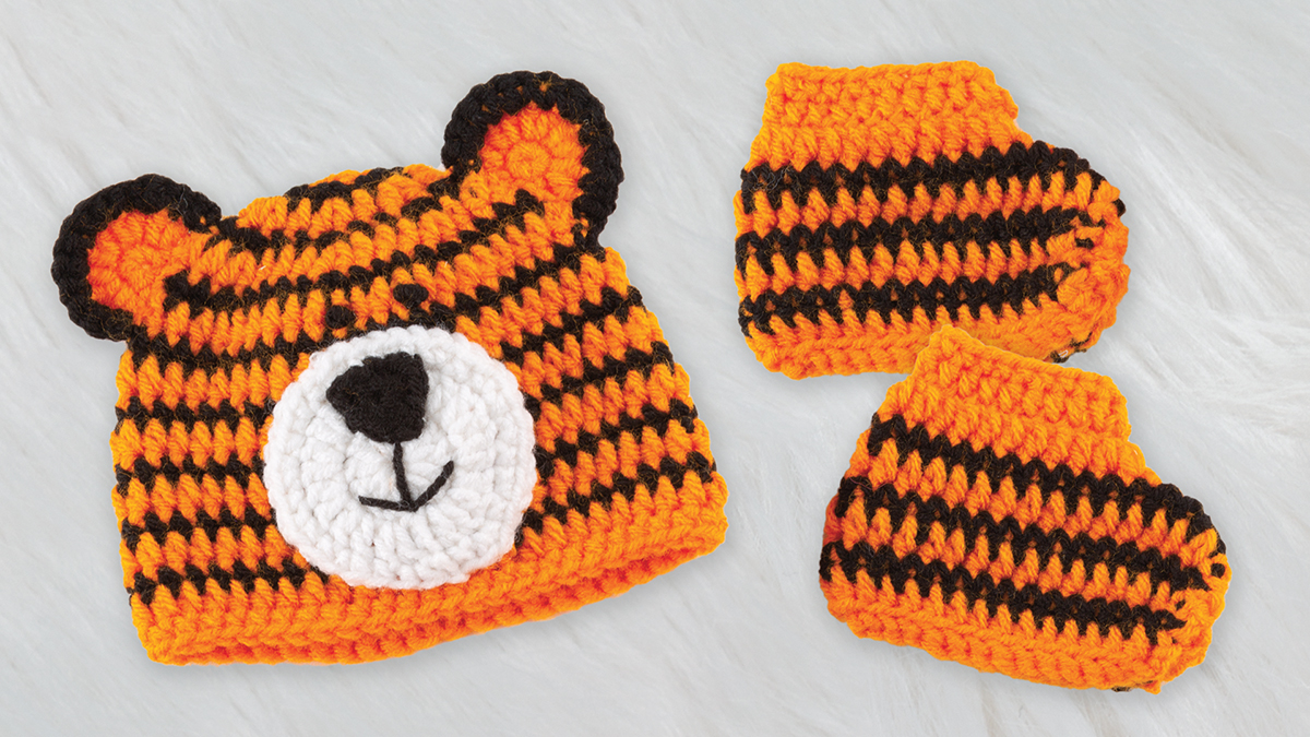 Learn, Make, Create!: Baby Tiger Hat & Booties