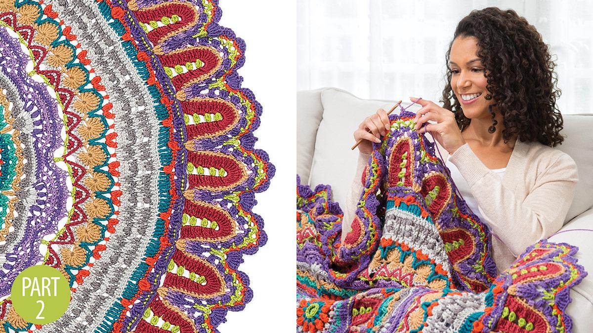 Crochet Skill Builders: Spectrum Mandala Throw: Part 2