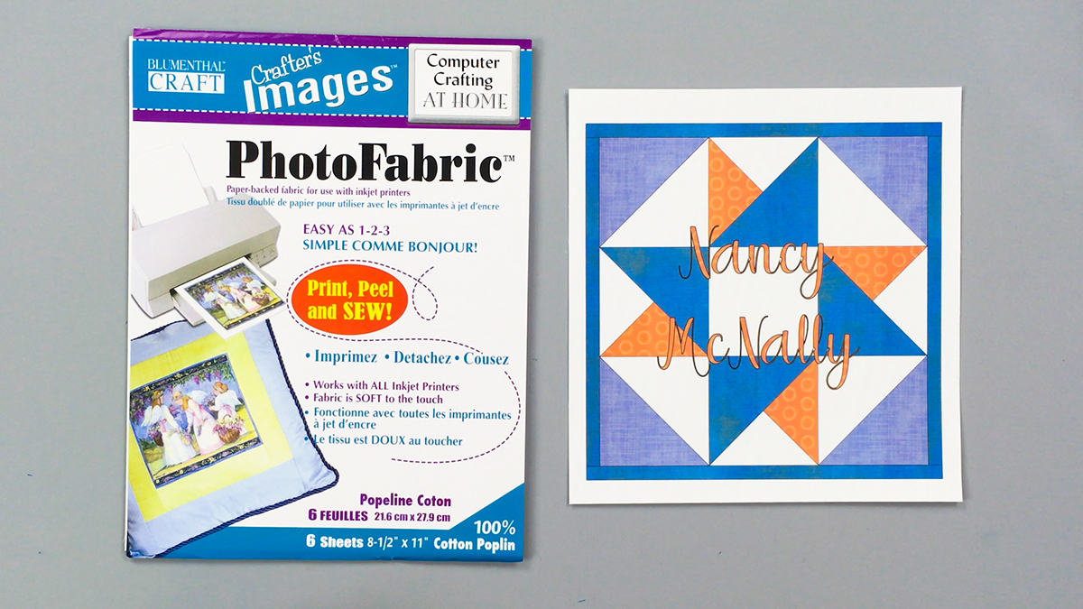 Quilt & Sew Tips: Using Photo Print Fabric