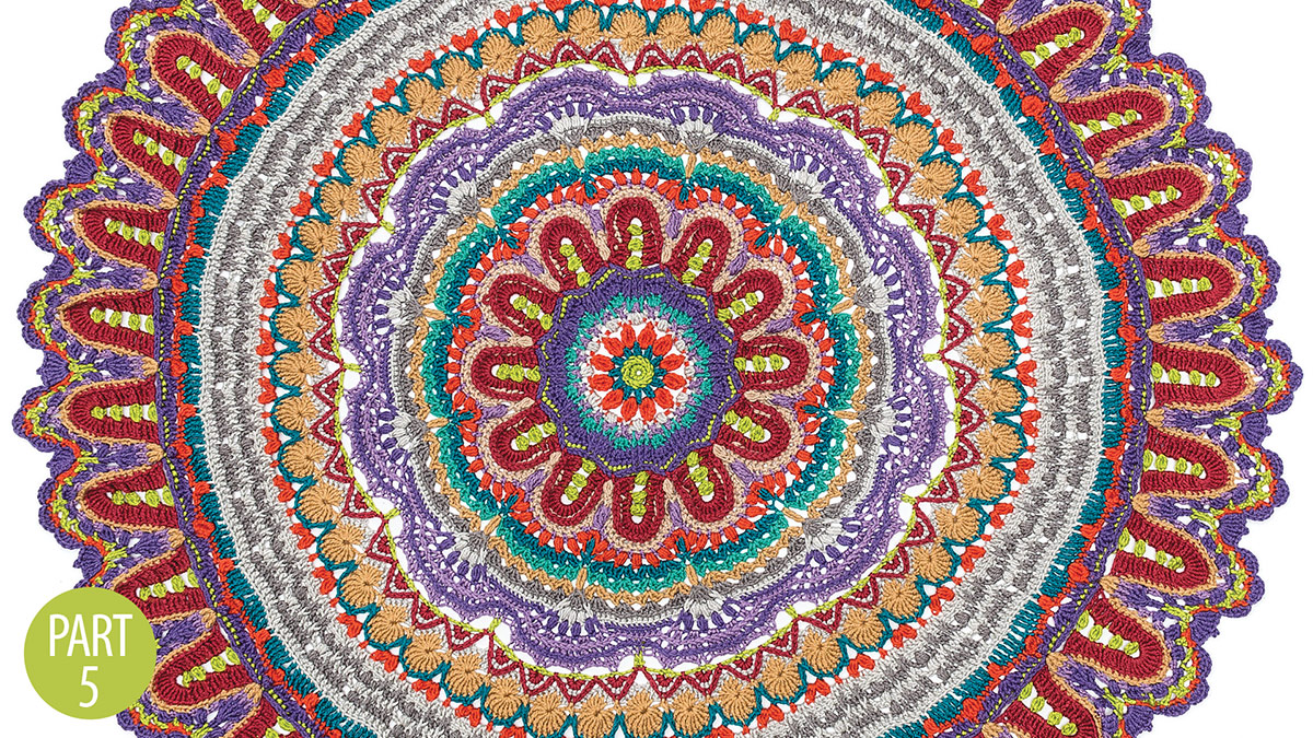 Crochet Skill Builders: Spectrum Mandala Throw: Part 5