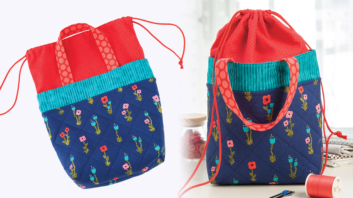 Learn, Make, Create!: Quilted Drawstring Bag