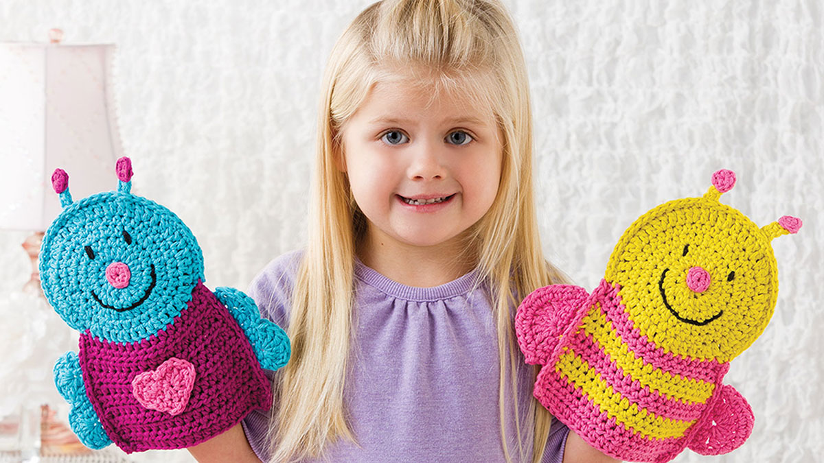 Learn, Make, Create!: Buggy Puppet Washcloths
