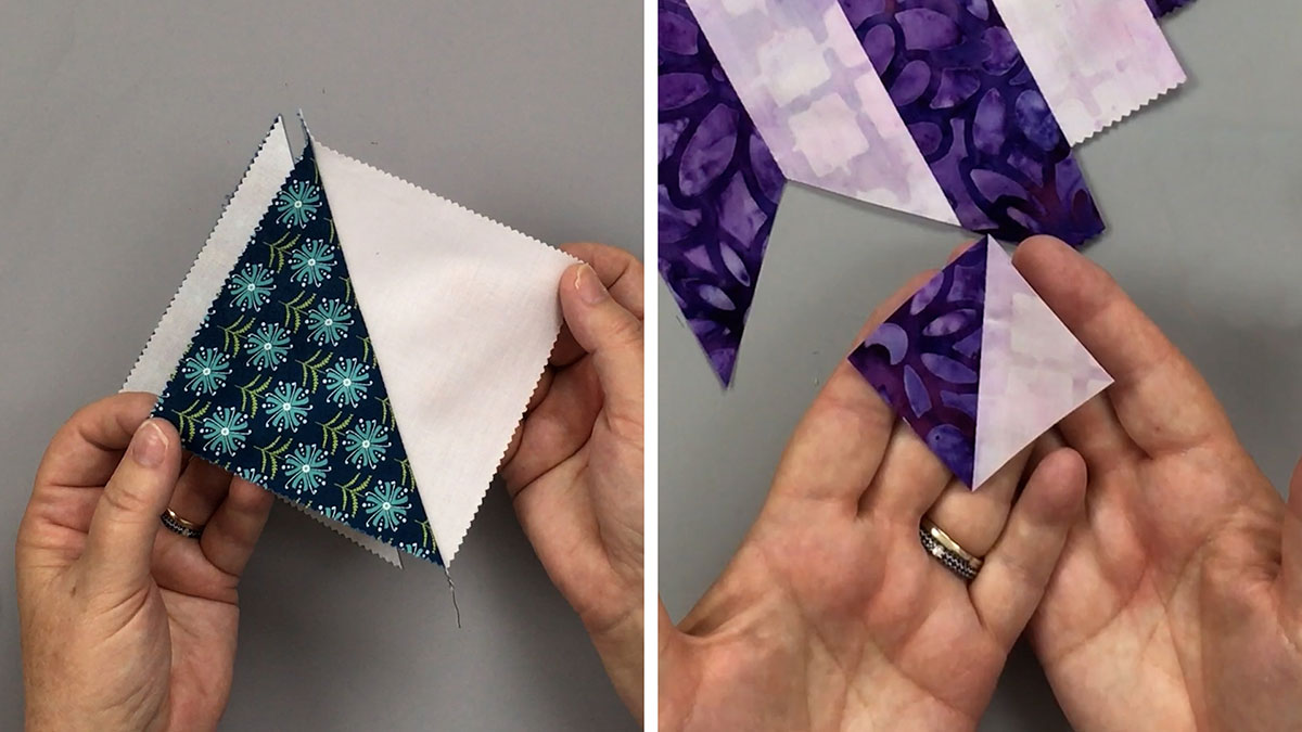 Quilt & Sew Tips: Different Ways to Make Half-Square Triangles: Part 1
