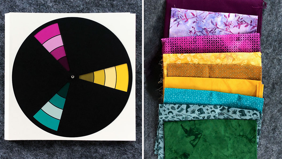 Quilt & Sew Tips: How to Use a Color Wheel to Select Fabrics