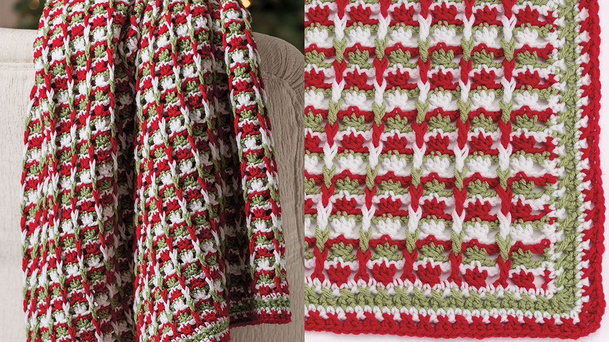 Learn, Make, Create!: Holiday Blossoms Throw