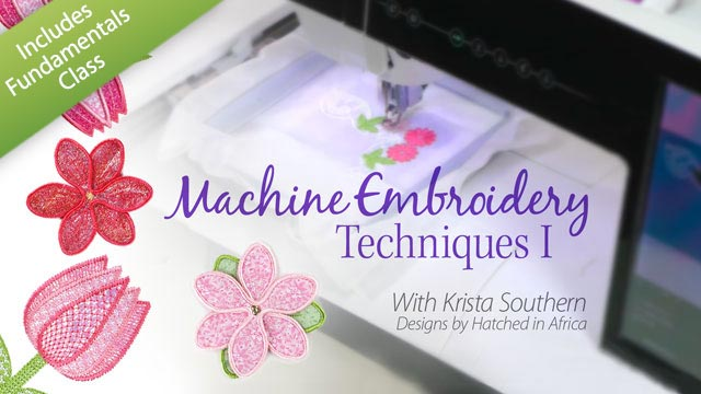 Online Classes: Machine Embroidery Techniques I