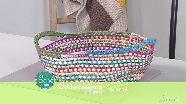 Crochet Around a Cord