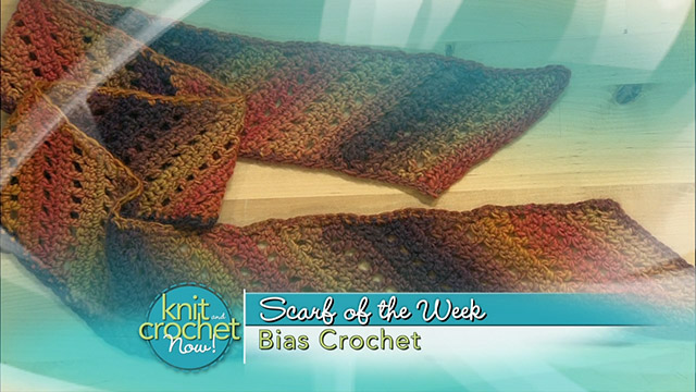 Bias Crochet Scarf
