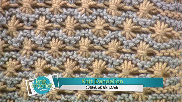 Knit Dandelion Stitch