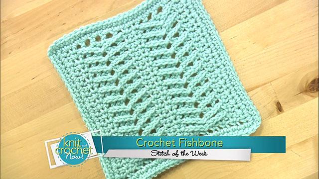 Crochet Fishbone Stitch