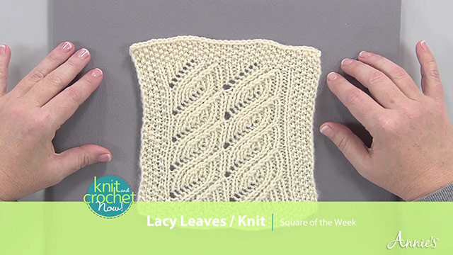 Knit Lacy Leaves