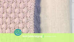 Knit Cable Edging