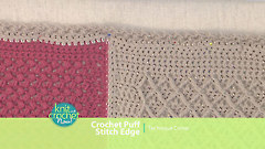 Crochet Puff Stitch Edge