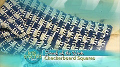 Checkerboard Squares Scarf
